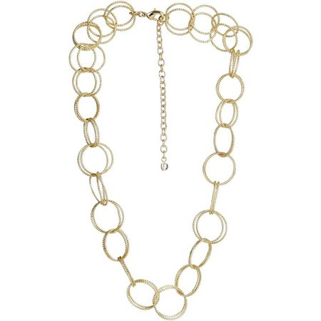 Napier Multi Circle Ring Link Necklace