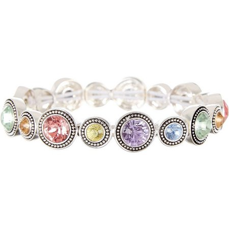 Napier Round Swarovski Crystal Elements Stretch Bracelet