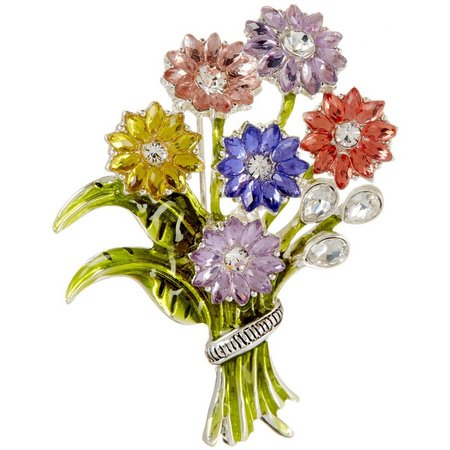 Napier Bouquet Of Flowers Pin