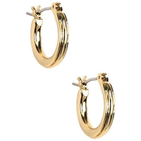 Napier Small Textured Hoop Earrings