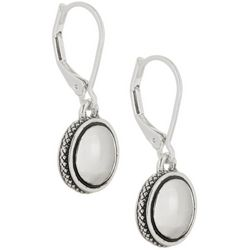 Napier Silver Tone Small Disc Drop Earrings