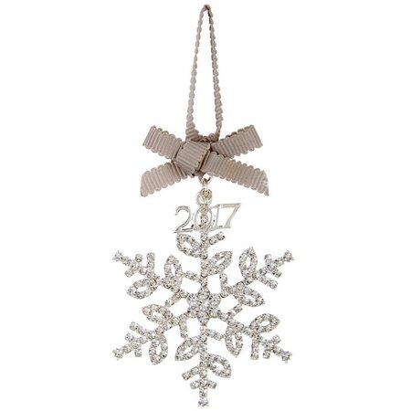 Napier 2017 Rhinestone Snowflake Ornament