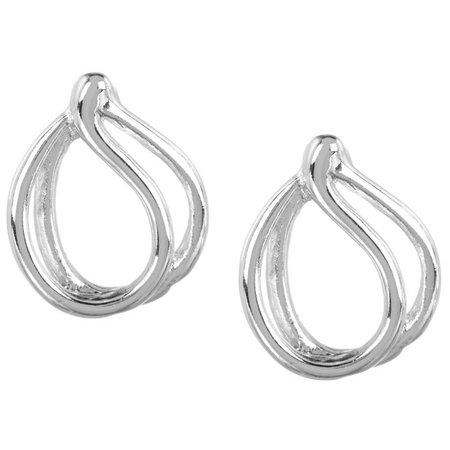 Napier Small Open Swirl Stud Earrings
