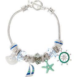 Napier Nautical Charm Toggle Bracelet
