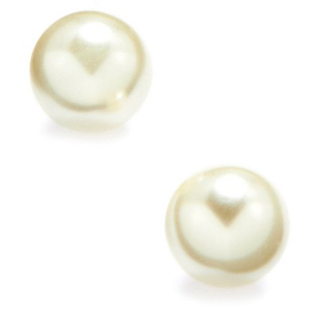 Anne Klein 8mm Pearlescent Ball Stud Earrings