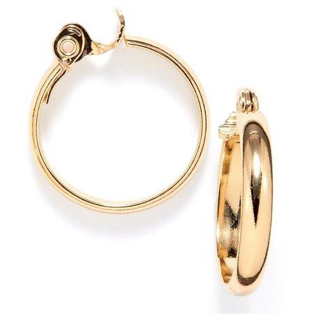 Anne Klein Gold Tone Medium Clip Hoop Earrings