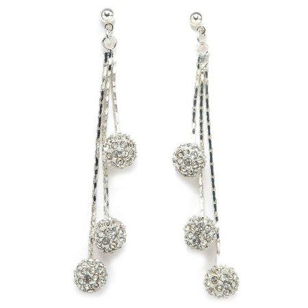 Anne Klein Pave Crystal Drop Dangle Earrings