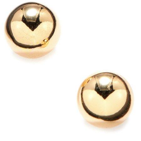 Anne Klein Gold Tone Ball Stud Earrings