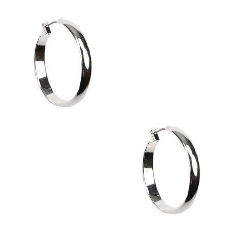 Anne Klein Silver Tone Small Hoop Earrings