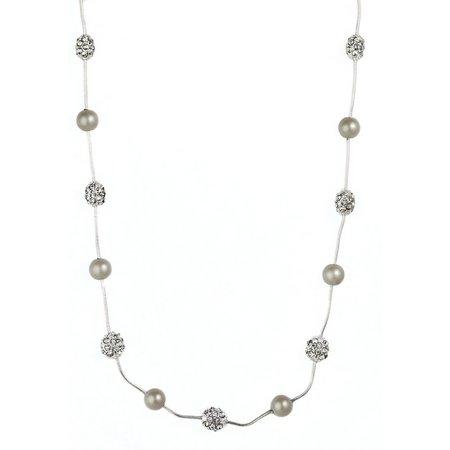 Anne Klein Pearlescent Fireball Illusion Necklace
