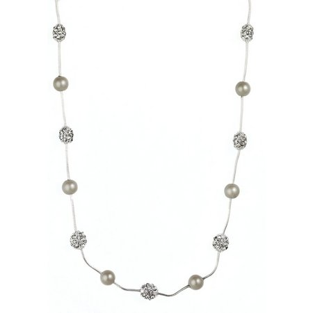 Anne Klein Pearlescent Fireball Illusion Necklace