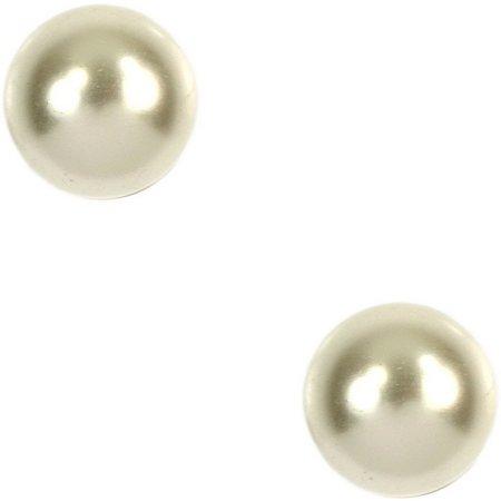 Anne Klein 8mm Pearlescent Stud Earrings