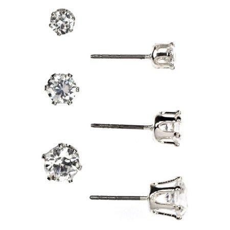 Anne Klein Cubic Zirconia Stud Earring Set