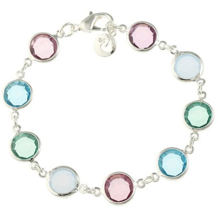 Gloria Vanderbilt Mult-Faceted Channel Stone Bracelet
