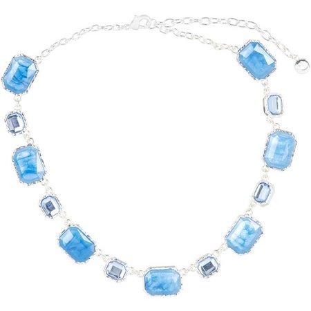Gloria Vanderbilt Rectangle Link Collar Necklace