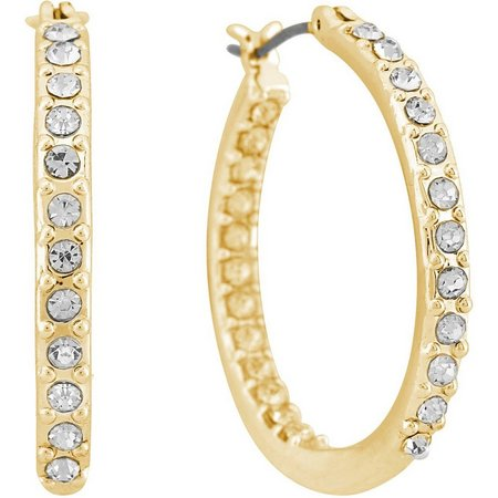 Gloria Vanderbilt Rhinestone Pave Earrings