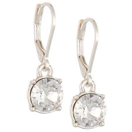 Gloria Vanderbilt Clear Crystal Drop Earrings
