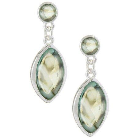 Gloria Vanderbilt Double Drop Abalone Earrings
