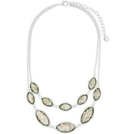 Gloria Vanderbilt Double Row Abalone Necklace