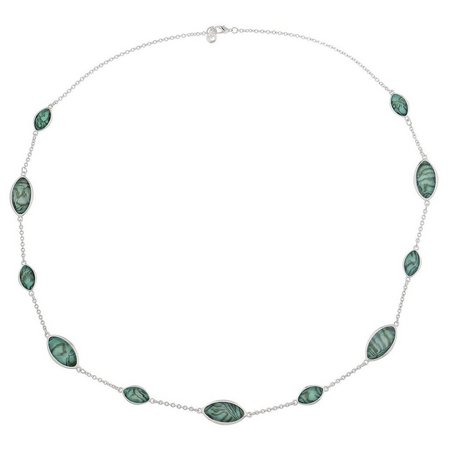 Gloria Vanderbilt Abalone Shell Marquis Necklace