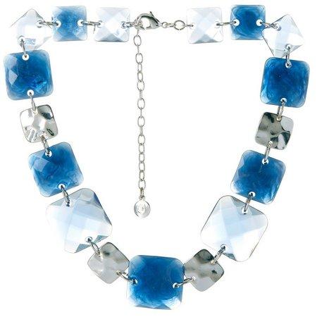 Gloria Vanderbilt Multi Square Link Necklace