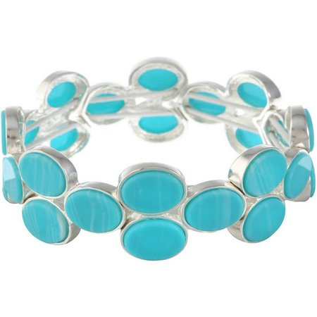 Gloria Vanderbilt Blue Oval Stretch Bracelet