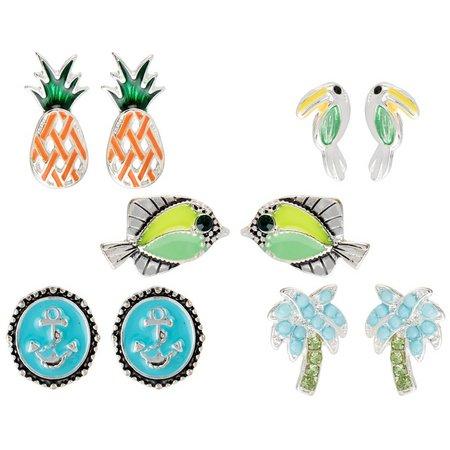 Bay Studio Multiples 5-pc. Fish Stud Earring Set