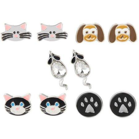 Bay Studio Multiples 5-pc. Cat & Dog Earring