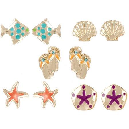 Bay Studio Multiples 5-pc. Seashore Earring Set