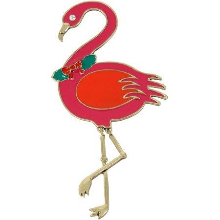 Lily Bloom Holiday Attire Flamingo Pin