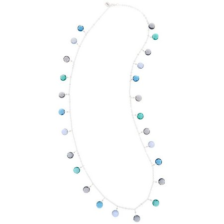 Chaps Multi-Faceted Shaky Disc Necklace