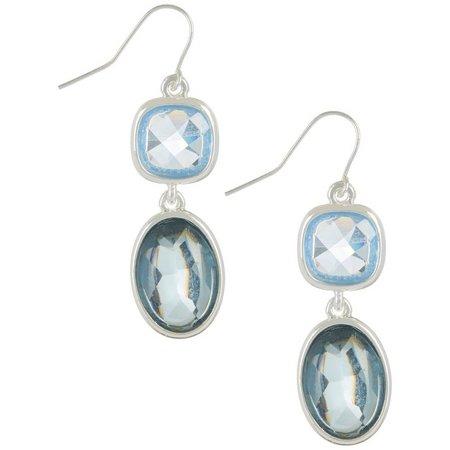 Chaps Blue Double Drop Earrings