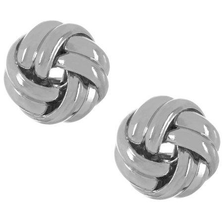 Chaps Knot Stud Earrings