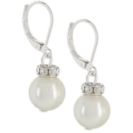 Chaps Faux Pearl Drop Earrings