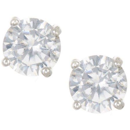Chaps 6mm Clear CZ Stud Earrings
