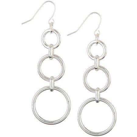 Chaps Trio Linear Ring Dangle Earrings