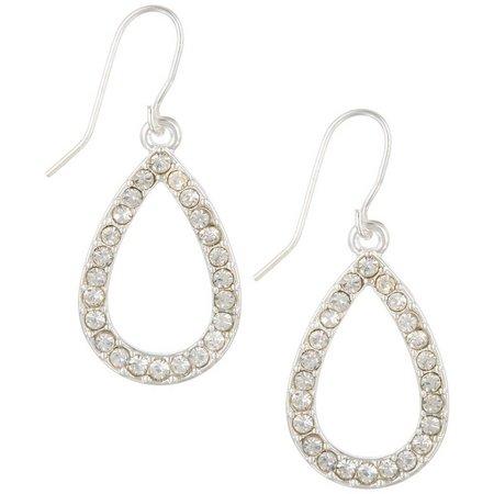 Chaps Rhinestone Teardrop Dangle Earrings