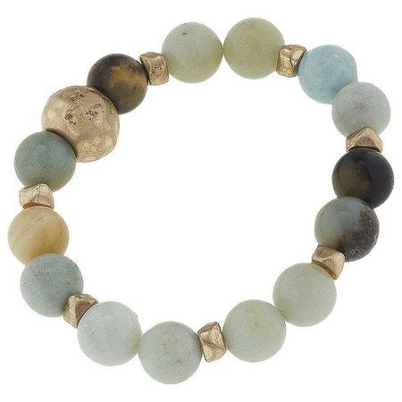 BLANK CANVAS Amazonite Beaded Stretch Bracelet