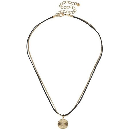 BLANK CANVAS Chain & Cord Gold Tone Disc