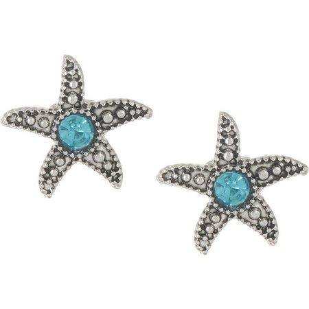 PIPER MADISON Aqua Blue Starfish Stud Earrings