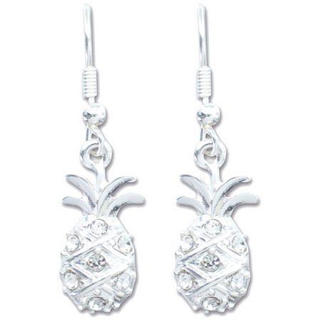 PIPER MADISON Silver Tone Pineapple Drop Earrings