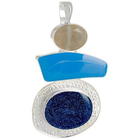 Wearable Art By Roman Blue Multi Trio Drop