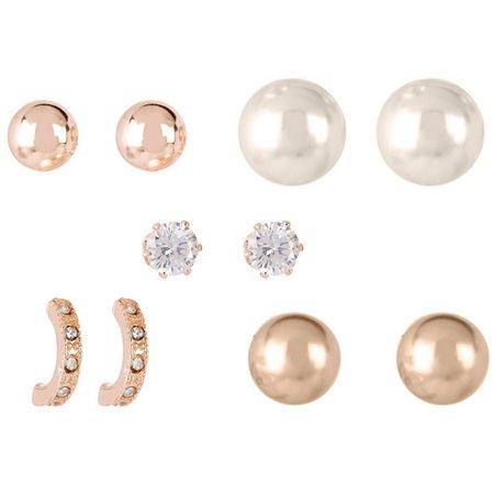 Roman 5-pc. Faux Pearl Stud Earring Set