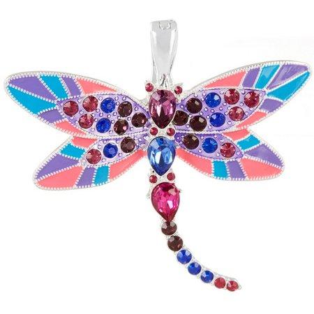 Wearable Art By Roman Pink Multi Dragonfly Pendant
