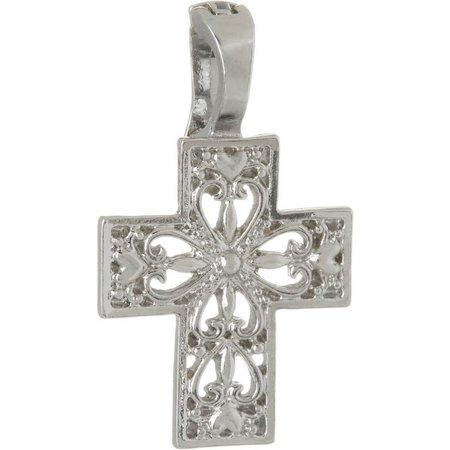 Wearable Art By Roman Open Heart Cross Pendant