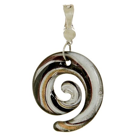 Wearable Art By Roman Artisan Glass Spiral Pendant