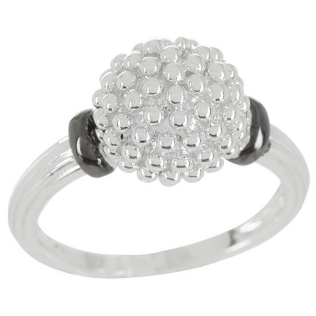 City by City Metal Pave Ball Ring