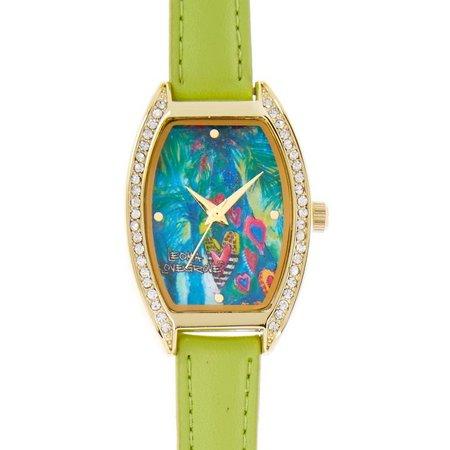 Leoma Lovegrove Womens Hearts Of Palm Watch