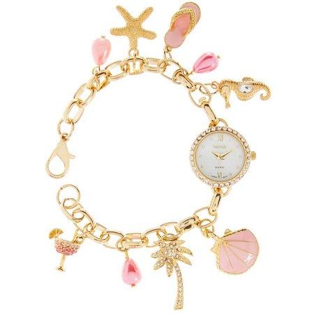 Bay Studio Womens Multi Beach Charm Bracelet Watch