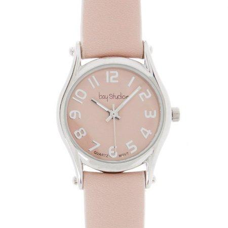 Bay Studio Womens Silver Tone Strap Watch